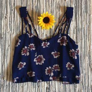 Adorable Flower Crop Top